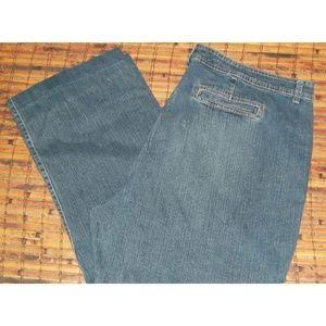 Ladies stretch denim jeans med blue perfect fit